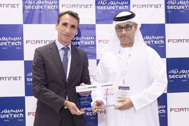 Platinum Partner Award from Fortinet