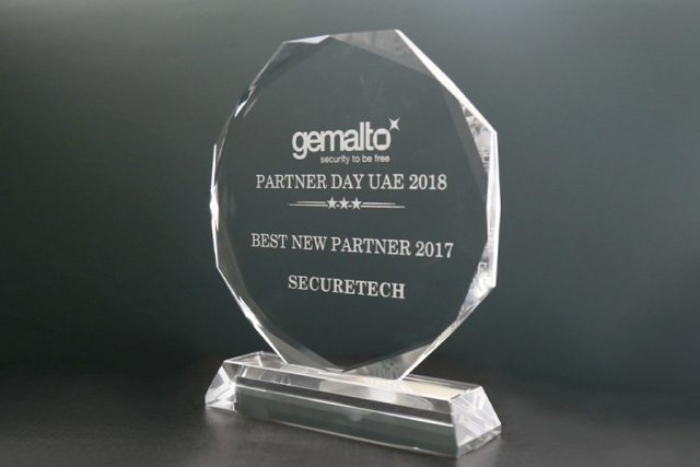 SecureTech received, Best New Partner 2017 from Gemalto