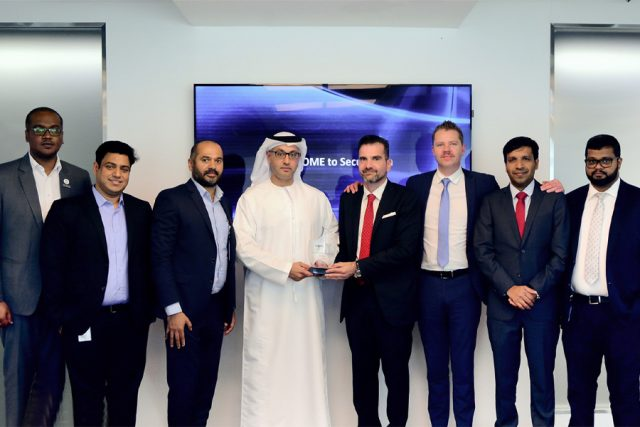 """Best 2T Overall Business for the Financial Year 2018"" award from Logicom"