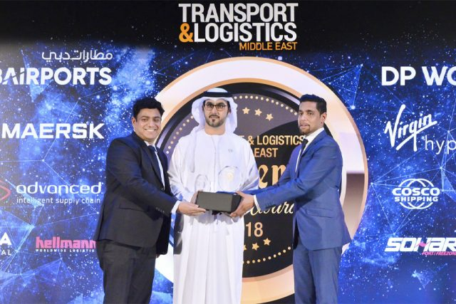 """Best Security Partner- Public Transportation 2018"" award from TRANSPORT & LOGISTICS MIDDLE EAST"