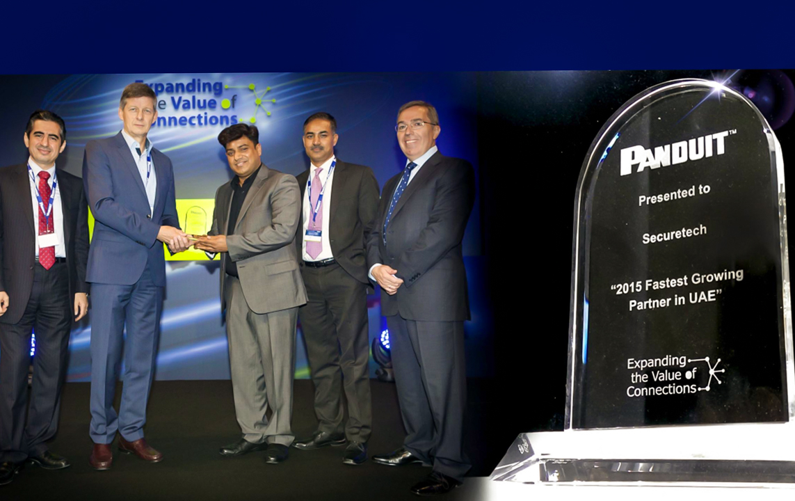 37.Panduit names SecureTech as its fastest growing partner in UAE for 2015, at Panduit Annual event in Istanbul, Turkey _