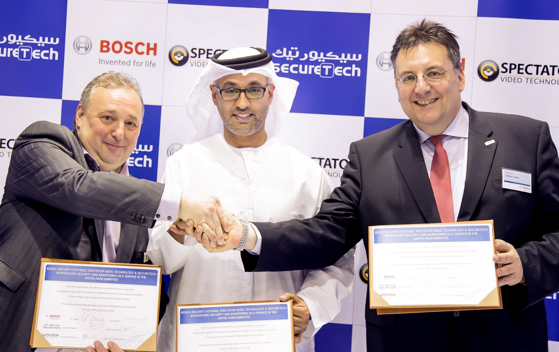 43.SecureTech, Bosch Security Systems and Spectator Video Technology introduces Security and Monitoring Service Launch in the UAE for the first time