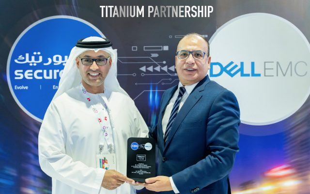 Dell EMC Titanium Partnership Award during GITEX 2019